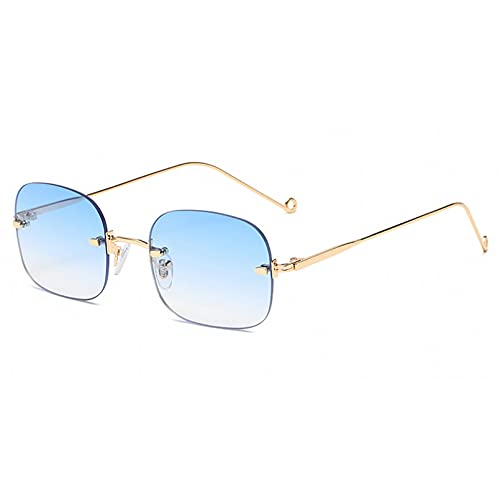 LUOXUEFEI Gafas De Sol Gafas De Sol Cuadradas Sin Montura Gafas De Sol Masculinas Para Mujer