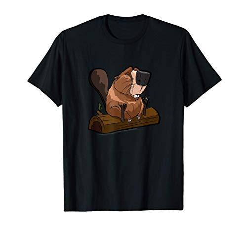 Lustiges Biber Geschenk für Biber & Nagetier Freunde T-Shirt