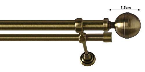 /200/cm Kippen 1301oa Barra para cortina extensible 120/ lat/ón envejecido