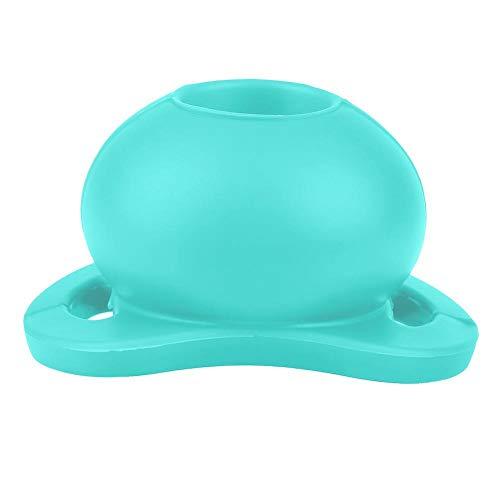 Baby fopspeen levensmiddelenkwaliteit silicone grappig fopspeen flexibel stofdicht fopspeen tepel bijtring voor pasgeborenen peuters blauw