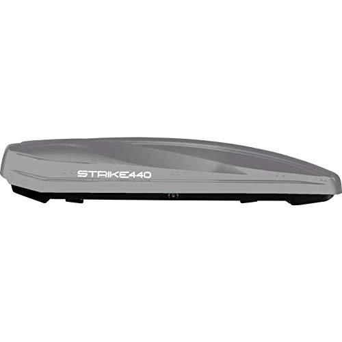Unbekannt Junior Dachbox für Auto Strike Glanz Grau 440 199x84 x 35 cm 100{91a61cd68e8b5ad486647b10cdd83c18ab411e05d6674e96530fafd3e7cea36a} Made in Italy - 440 Liter