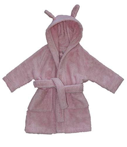 Leela Cotton Peignoir en coton bio avec capuche pour bébé (98/104, rose)