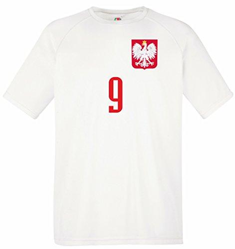 aprom Polen Kinder Trikot BR9 Polska Sport Fussball WM EM Kids (152)