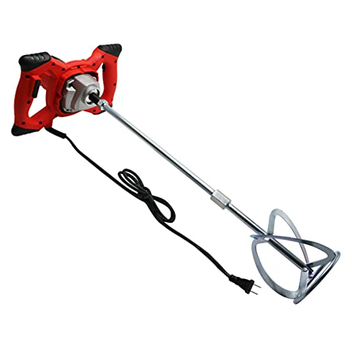 2100w Electric Hand-Held Concrete Mixing Drill Bit, Portable Cement Mixer With Rod, Used For Mixing Grouting/Paint/Mortar/Slurry/Paint Mixer, 6 Speeds 110v