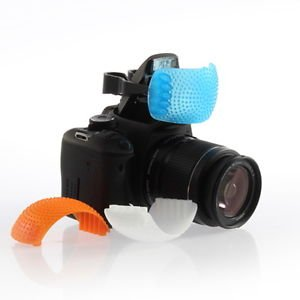 Generic 3 Color Pop Up Hot-Shoe Flash Diffuser Set For Dslr Cameras