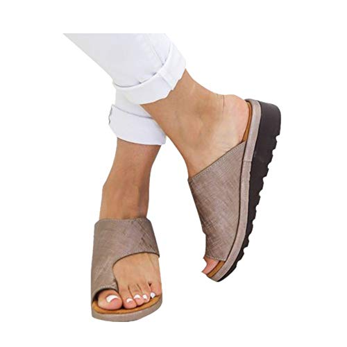 Women Orthotic Sandals with Arch Support, PU leather Soft Orthotic Sandals...