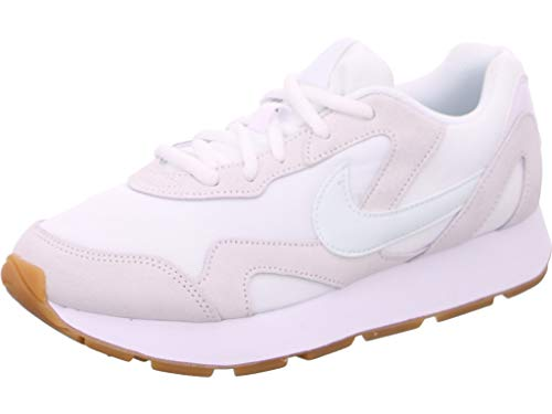 Nike Damen Delfine Leichtathletikschuhe, Mehrfarbig (White/Ghost Aqua/Gum Light Brown 000), 38 EU