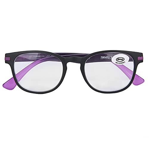 Gafas de lectura, gafas de lectura vintage unisex, gafas de presbicia portátiles de moda para artefactos de lectura, gafas de rayos UV antirreflejos(55-59+200)