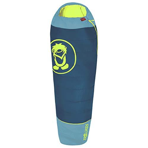 Trollkids Schlafsack Kinderschlafsack Fjell Dreamer, Petrolgrün/Lime, Größe One Size
