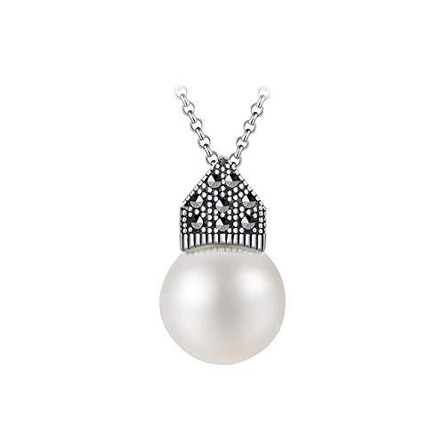 Collar colgante natural madre de perla real 925 plata esterlina diseñador hecho a mano joyería fina para las mujeres