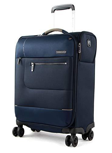 Roncato Sidetrack Maleta Cabina avión Azul, Medida: 55 x 40 x 20 cm, Capacidad: 42 l, Pesas: 2 kg, Maleta Cabina avión ryanair