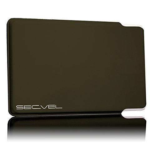 TÜV geprüfte und patentierte Schutzhülle 5-Fach Kartenschutz - Espresso | RFID NFC Blocker | Magnetfeld Abschirmung | Störsender für Kreditkarte, EC Karte, Personalausweis | 100% Aktiv Schutz