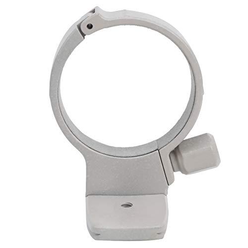 Anello per collare con attacco per treppiede in metallo da 1 pezzo con foro per vite da 1/4 di pollice, bocca obliqua a coda di rondine, per obiettivo per fotocamera per Canon 70-200 mm F4, grigio