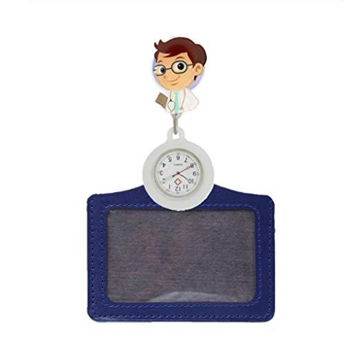 N / A Goma de la Historieta Enfermera retráctil Relojes de Bolsillo señoras de Las Mujeres médico de la Insignia del Carrete con el sostenedor Nombre Tarjetas para Mujeres Hombres (Color : 1)