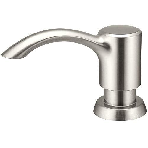 Soap Dispenser for Kitchen Sink Counter Dispenser 17 OZ Bottle Built in Refill from The Top (Brushed Nickel)