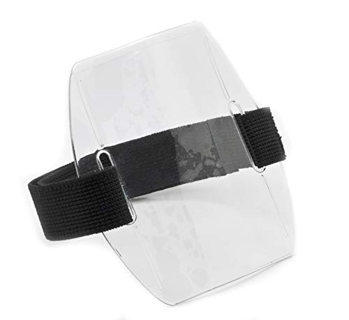 100pcs - Armband ID Badge Holder with Black Strap Arm Band by OnDepot.com