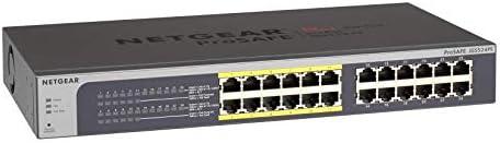 NETGEAR 16-Port PoE Gigabit Ethernet Plus Switch (JGS516PE) - with 8 x PoE @ 85W, Desktop/Rackmount, and ProSAFE Limited Lifetime Protection