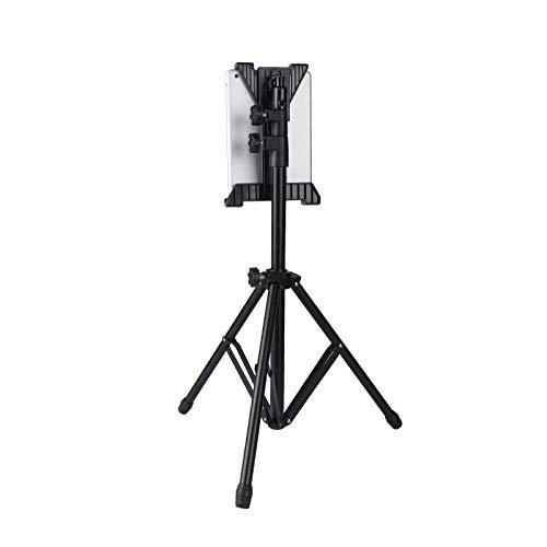 DGHJK Supporto per iPad in Lega di Alluminio, Regolabile in Altezza 40-170 cm   15,7-66,9 Pollici, Supporto Nero per iPad Mini 5 per Tablet Fino a 30,7 cm (12,1 Pollici)