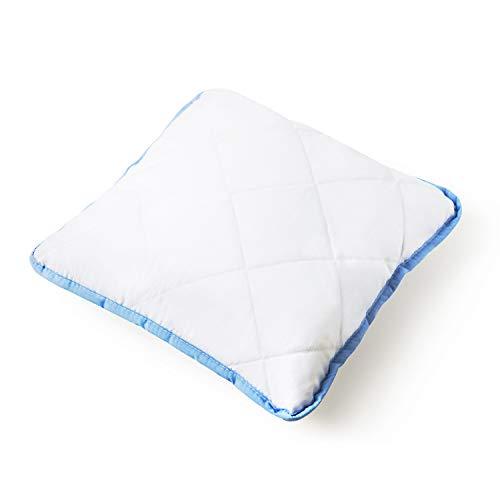 Mister Sandman Essential Kissen aus Mikrofaser, Premium Kopfkissen, samtig weich, für einen gesunden Schlaf (80 x 80 cm, Essential+ Blau)