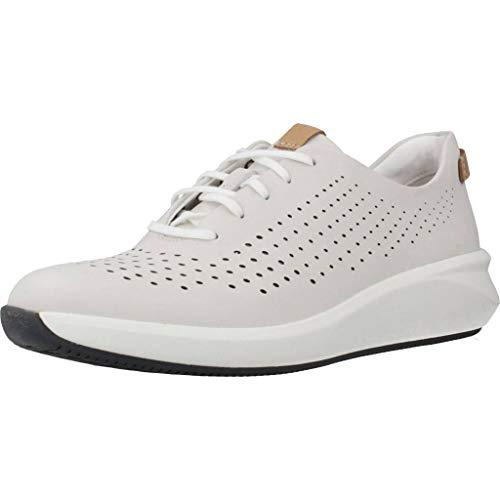 Clarks Un Rio Tie Womens Sports Shoes 38.5 EU Weiß