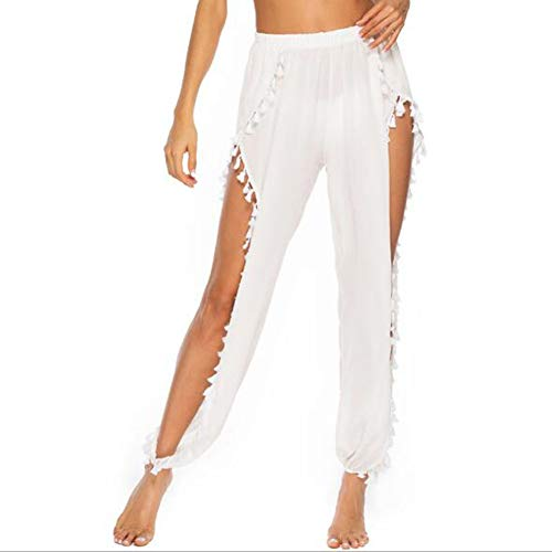 Zidao Holgados Pantalones, Pantalones de Playa de la Mujer Atractiva Abierta Floja...