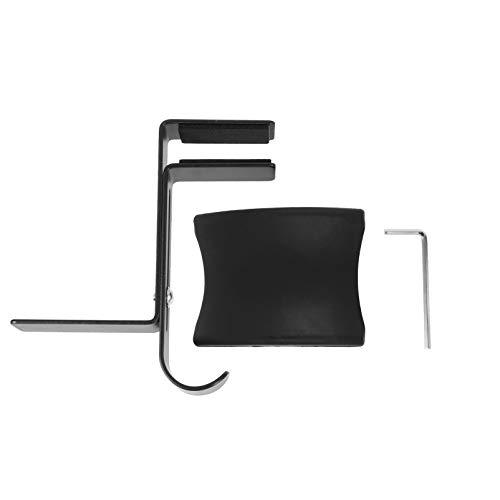 OSALADI Hoofdtelefoon Stand Hanger Onder Bureau Headset Houder Metalen Haak Verstelbare Oortelefoon Rack Voor Bureau Gaming Headset Zwart