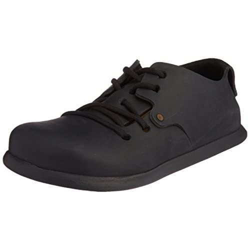 Montana Black Leather Adults Lace up Shoes