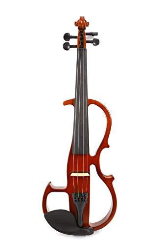 Yinfente Violín eléctrico 4/4 tamaño completo Silencioso Violín Madera maciza con arco...