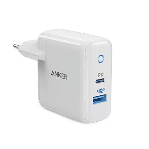 Anker Adaptador Corriente POWERPORT PD+ 2 1x Tipo C 1x USB- A Blanco