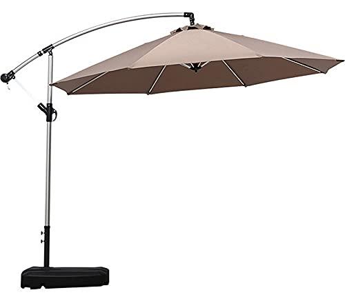 QQ HAO Juego de paraguas grande para exteriores, paraguas de jardín, incluye base extraíble para tanque de agua en ruedas, color caqui