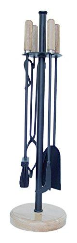 Imex El Zorro 12014-F Set voor open haard, rond, gesmeed, 4 stuks