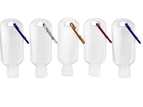 Botellas vacías de plástico con tapa abatible a prueba de