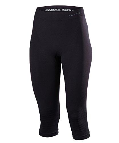 FALKE Damen Tights Warm 3/4 - Funktionsfaser, 1 Stück, Schwarz (Black 3000), Größe: L