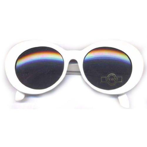 Kurt Cobain White Round Sunglasses