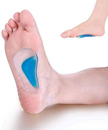 Pedimend stencils gel for flat foot and foot arch support; cushions for relief Plantar fasciitis, fallen arches, metatarsal pads, orthopedic care of Morton's Neuroma, reduce stress and pain
