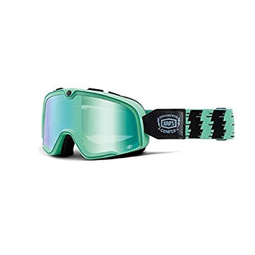 100 % Masque Barstow Ornamental Conifer – Lentille miroir vert, multicolore, taille unique