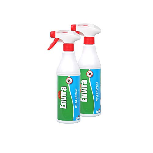 Envira Milben-Spray - Anti-Milben-Mittel Mit Langzeitwirkung - Geruchlos & Auf Wasserbasis - 2x500ml