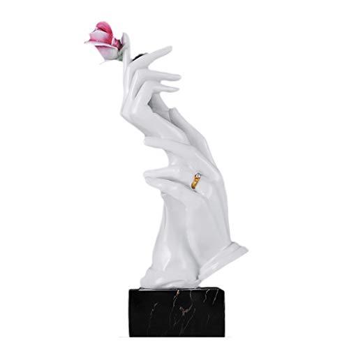 YIGEYI Rose Sculpture Salon Armoire À Vin Décoration Ornements Personnalité Créative Maison Résine Artisanat Sculptures Décoratives (Couleur : #1)