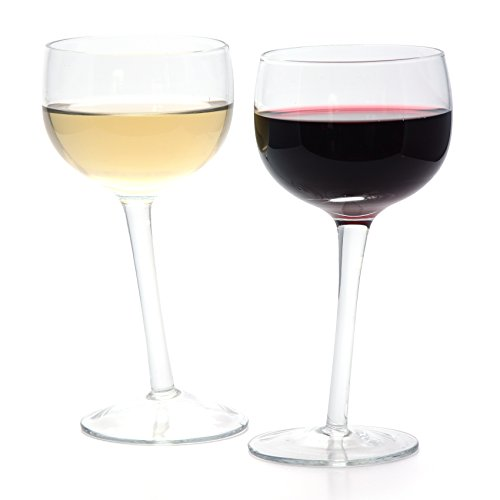 Copa de vino CKB Ltd® de estilo único con fuste inclinado, capacidad para 250 ml, en caja de regalo
