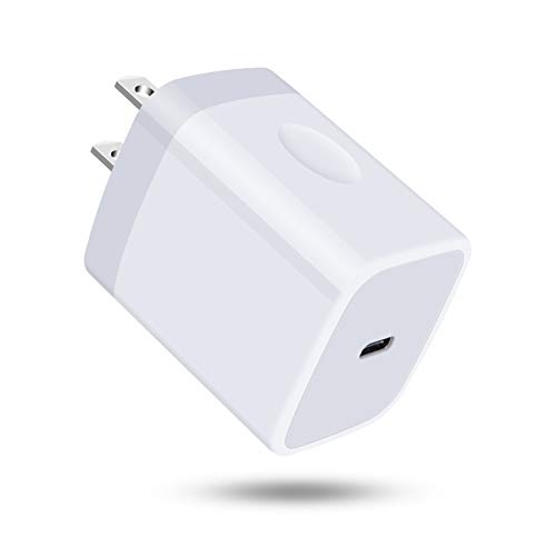 USB C Wall Charger, 18W PD3.0 Fast Charging Block Type C Power Wall Adapter Plug Cube for iPhone 12 Mini/12/12 Pro/12 Pro Max/ 11/X/XR/XS/Airpods Pro,MacBook Air, iPad Pro,Pixel 5 4a 5G,Samsung Galaxy