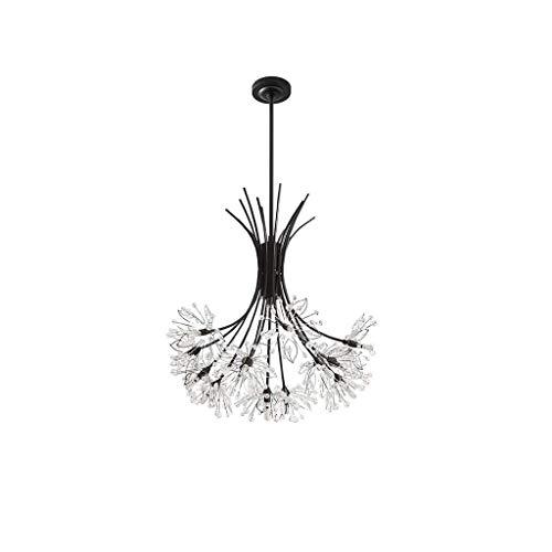 MJK Candelabros de novedad, candelabro colgante moderno, iluminación de gota de lluvia de cristal, accesorio de luz de techo para comedor, baño, dormitorio, sala de estar, candelabros para el hogar