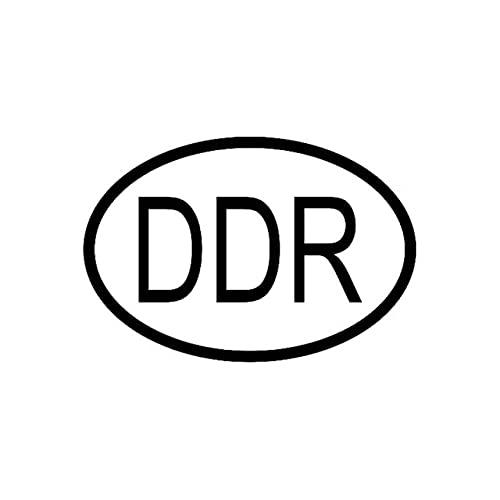 A/X Sticker de Carro 13,6 CM * 9,3 CM DDR Alemania Código de país Oval Etiqueta engomada del Vinilo del Coche Negro Plata C10-01196Negro