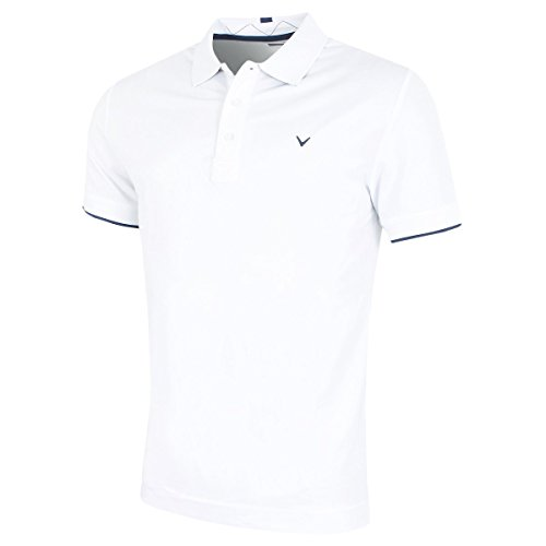 Callaway Contrast Tipped Golf Poloshirt für Herren L weiß