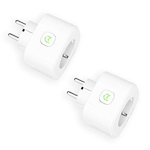 Presa Intelligente Wifi 16A 3680W Smart Plug Energy Monitor Protezione Sovraccarico, Funzione Timer, APP Controllo Remoto, Compatibile con SmartThings, Amazon Alexa, Google Home e IFTTT, 2pcs