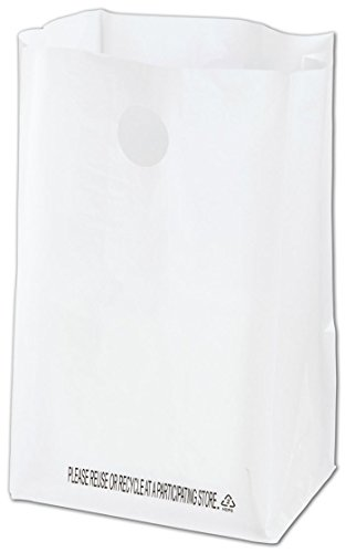 Best Buy! EGP High Density Plastic Catering Bags, 1000 Count, 8 1/4 x 6 x 14 White