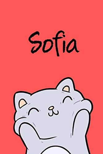 Sofia: DIN A5 • Blanko 110 Seiten • Mein Malbuch • Personalisierter Kalender • Vornamen • Schönes Notizbuch • Notizblock Rot • Kinderbuch • Jugendbuch • Organizer • Malblock mit Namen