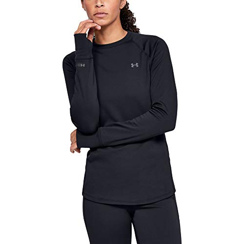 Under Armour Outerwear Womens Base Crew 3.0, Black (001)/Pitch Gray, Large