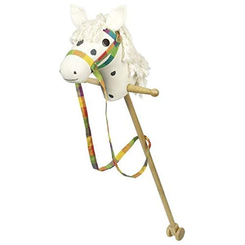 Goki 53940 Hobby Horse White with Dark Brown Dots, Mixed