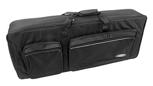 Classic Cantabile KT-C Keyboardtasche Größe C schwarz (Innenmaße 102 x 42 x 15 cm, Schaumstoffpolsterung, reiß- und wasserfest, Rucksackgurte verstellbar)