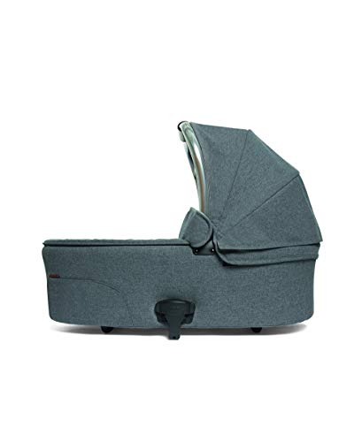 Mamas & Papas Ocarro Carrycot - Pushchair Accessory, Comfortable and Secure Carrycot Fully Compatible with Ocarro Pushchair Range, Grey Mist